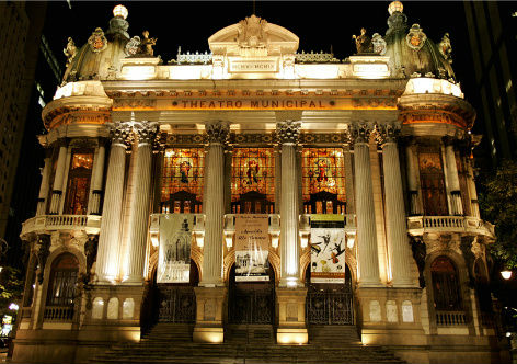 Teatro Municipal na Cinelândia