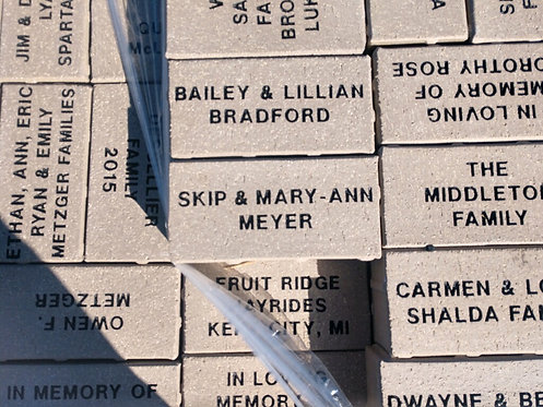 "Sports Complex 4x8""Engraved Brick"
