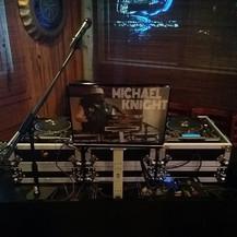 DJ Michael Knight spinning at Blackstar Bar & Grill 8/4/2018