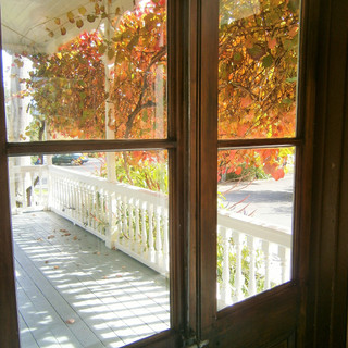 Looking out onto one of the Verandas