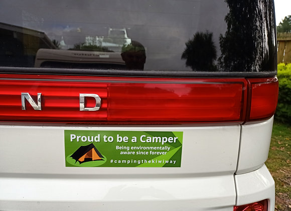 Proud to be a Camper decal 90mm x 270mm