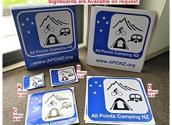 Vinyl All Points Camping Decal 4 sizes       From $1.50 to $8.00