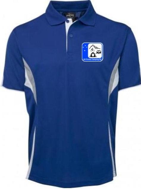 Club shirts - Blue with white and grey trim APCNZ logo