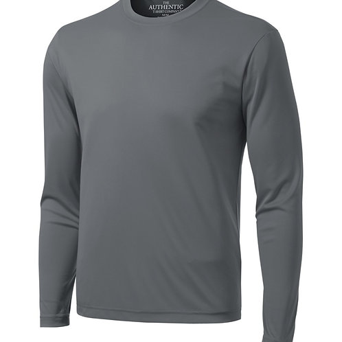 Long Sleeve Solid Perf Shirt