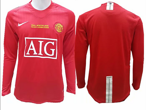 Man United 2008 Red Long Sleeve