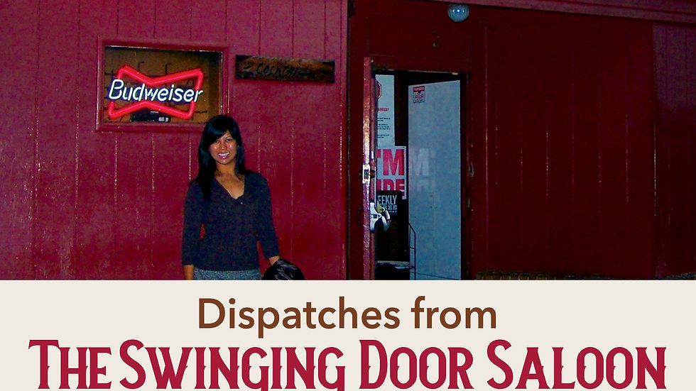 Paperback Copy of Dispatches from the Swinging Door Saloon