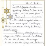What heartwarming letter!