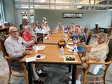 """""""We're Back In The Saddle"""" Glenna's Book Club At The Armed Forces Retirement Home"""