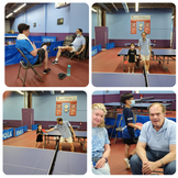 """""""Friday Night League,"""" table tennis """"across the generations"""" at the Maryland Table Tennis Center."""