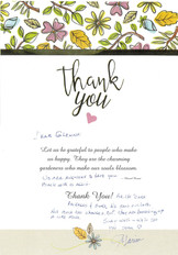 We Love Thank You Notes!