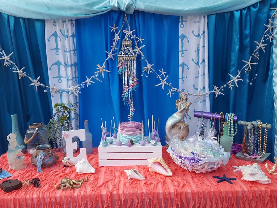 CAKE TABLE DECOR - MERMAID