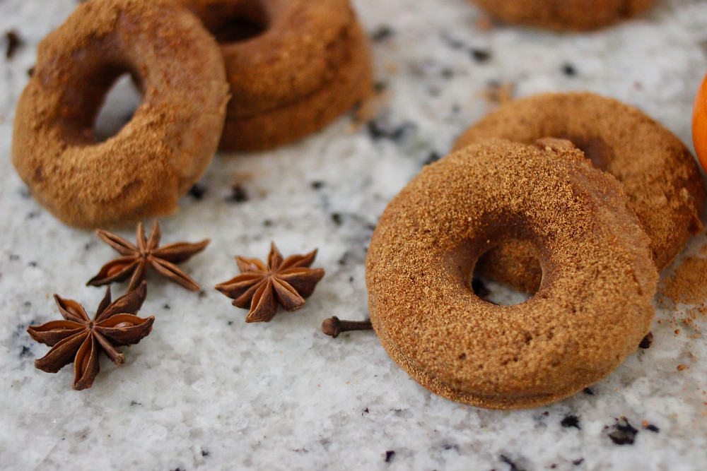 gluten-free vegan spiced apple cider donuts