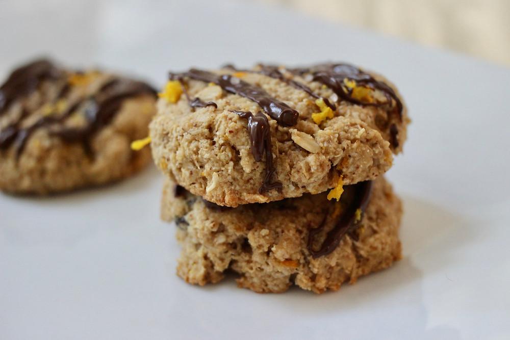 delicious chocolate orange gluten-free cookies