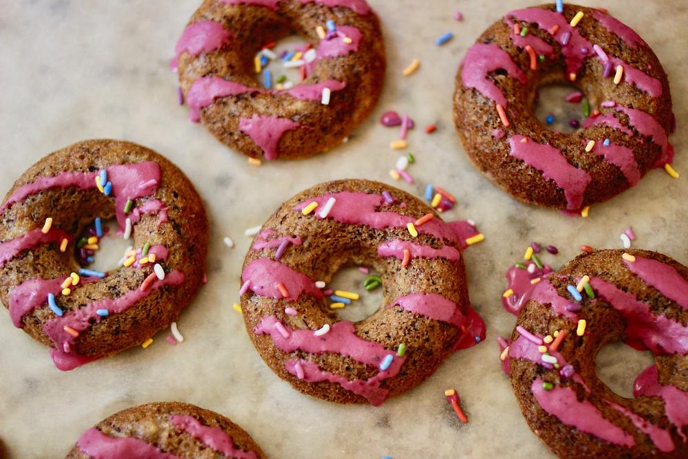 gluten-free vegan baked doughnuts