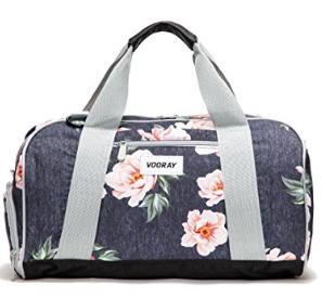 floral gym bag diaper bag