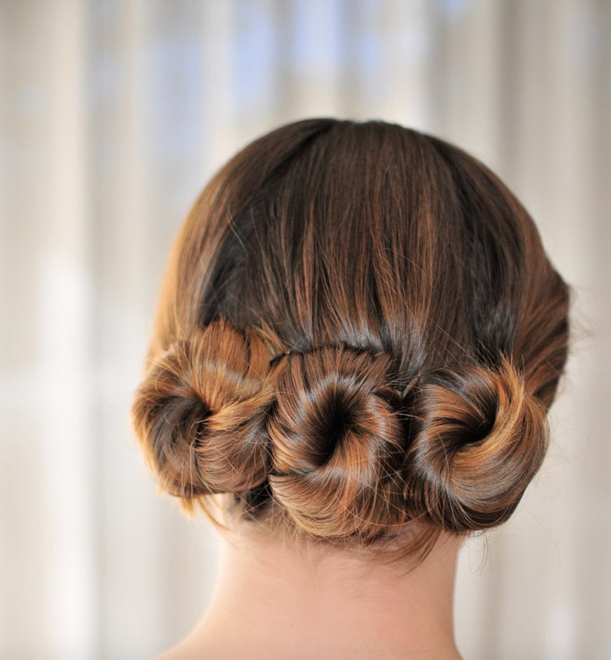 three bun hairstyle