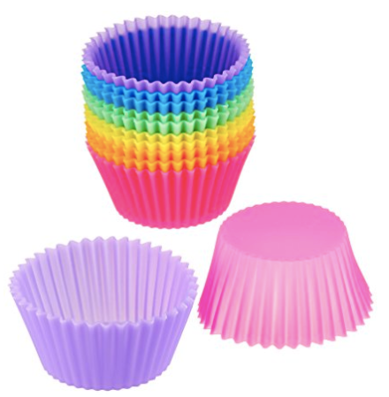 silicone cupcake or muffin liners