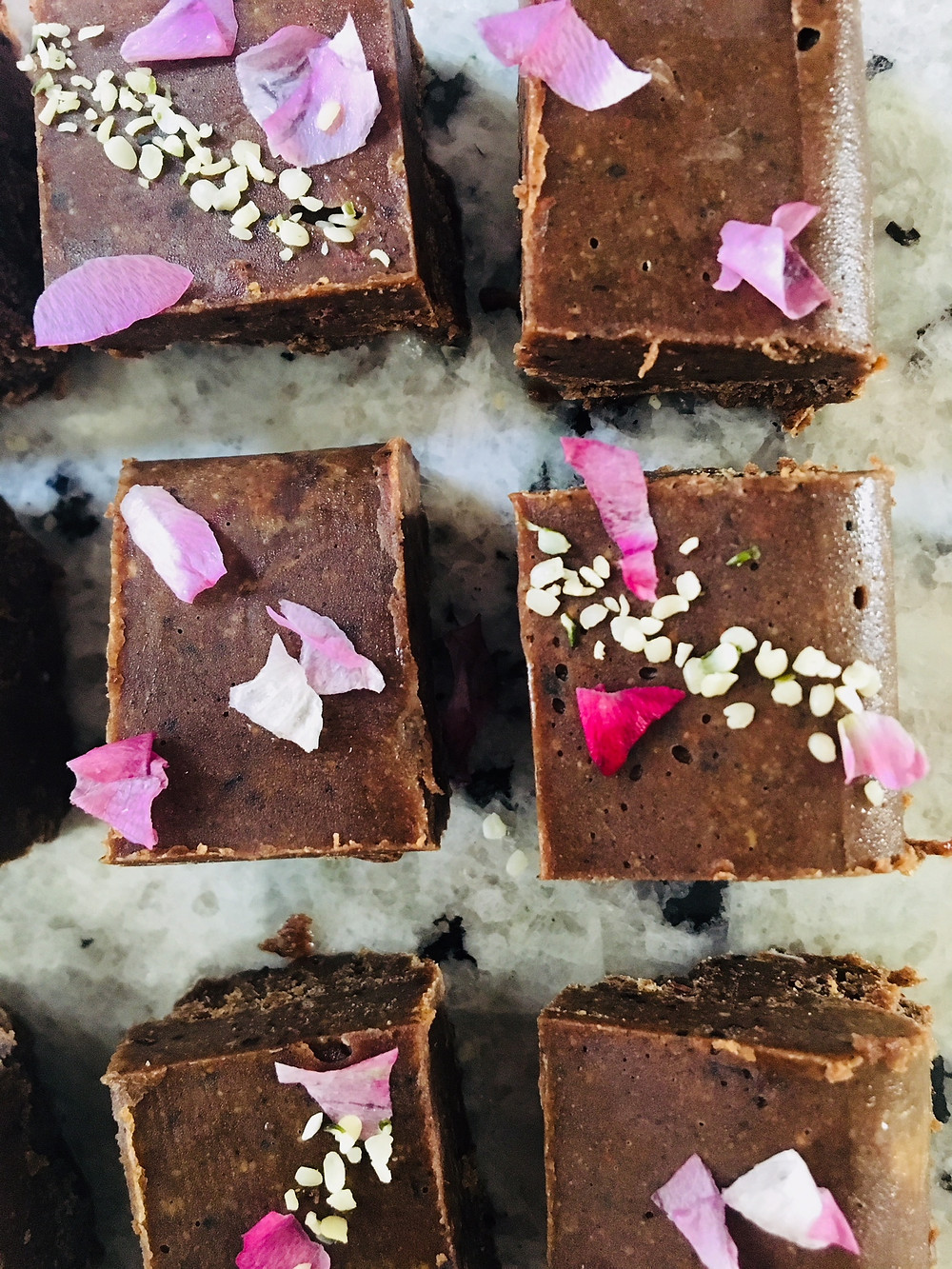 rose petal paleo dessert