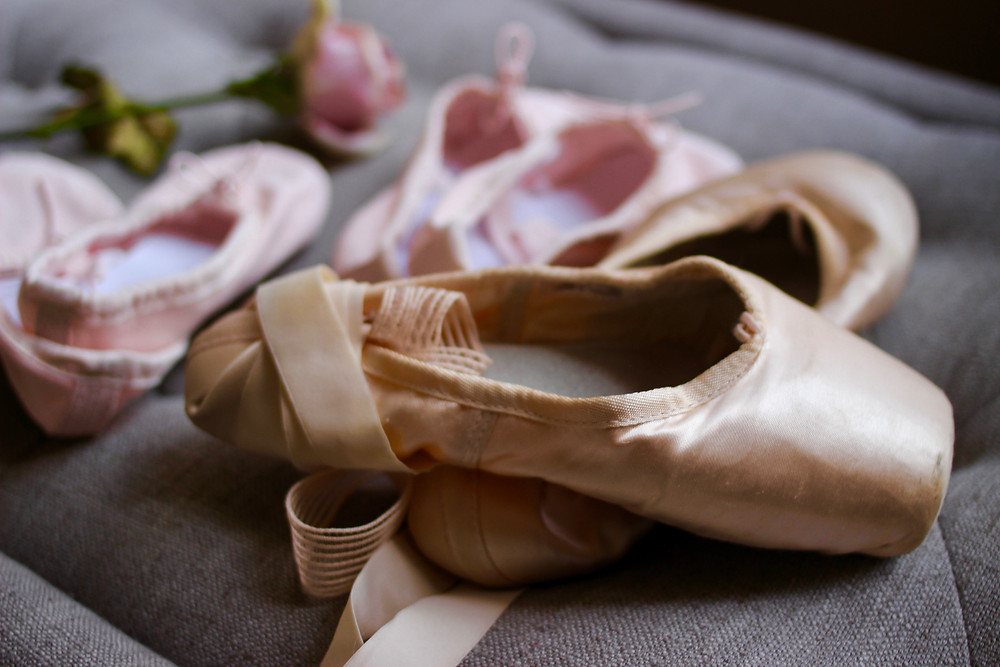 poite shoes and baby ballet