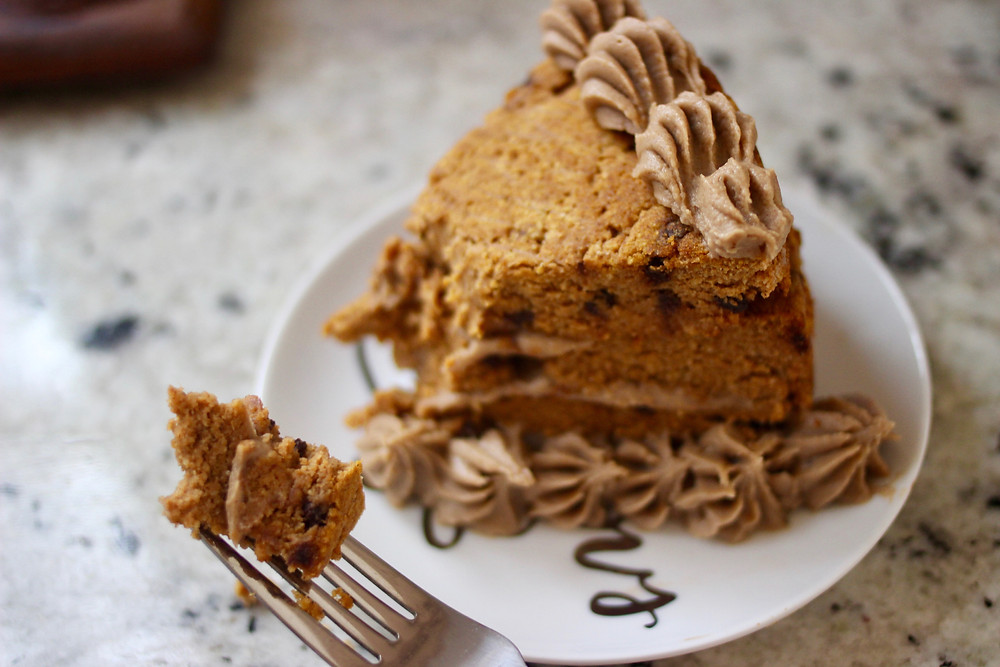 gluten-free vegan pumpkin cake with Delighted by Hummus dessert hummus