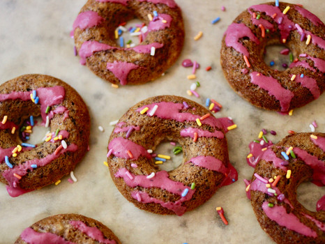 Guilt-Free Donuts with Dragonfruit Glaze