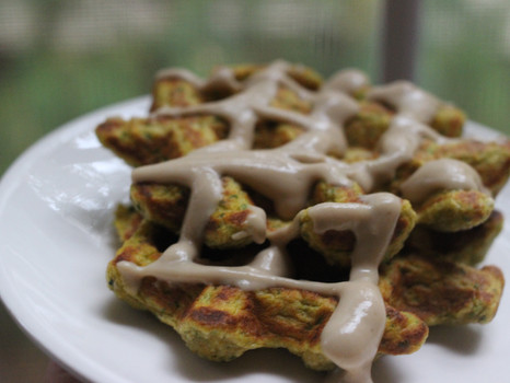 Spinach Sweet Potato Waffles