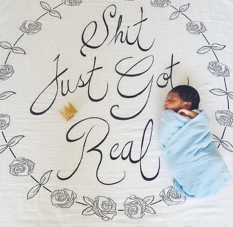 newborn photo drop swaddle blanket