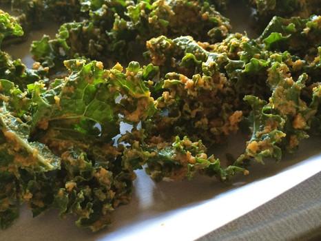 "Vegan ""Cheesy"" Kale Chips"