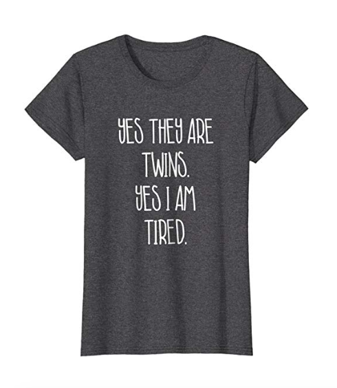 funny twin mom dad shirt