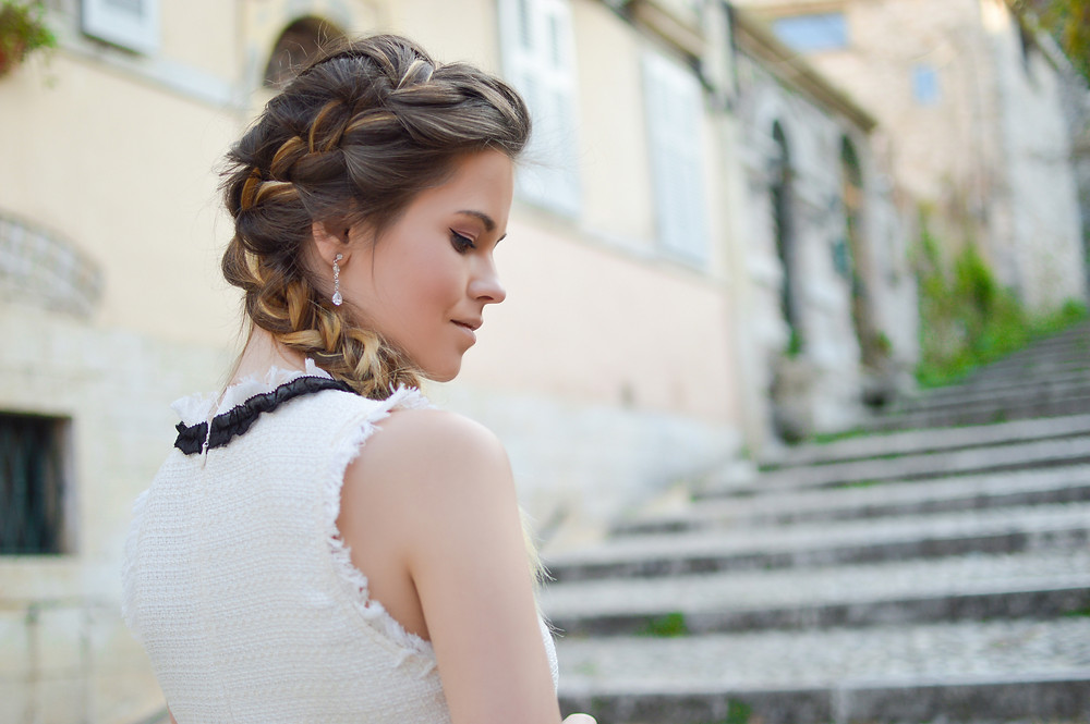simple side braid for summer