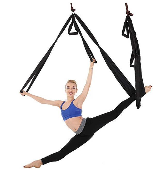 aerial yoga trapeze hammock and straps