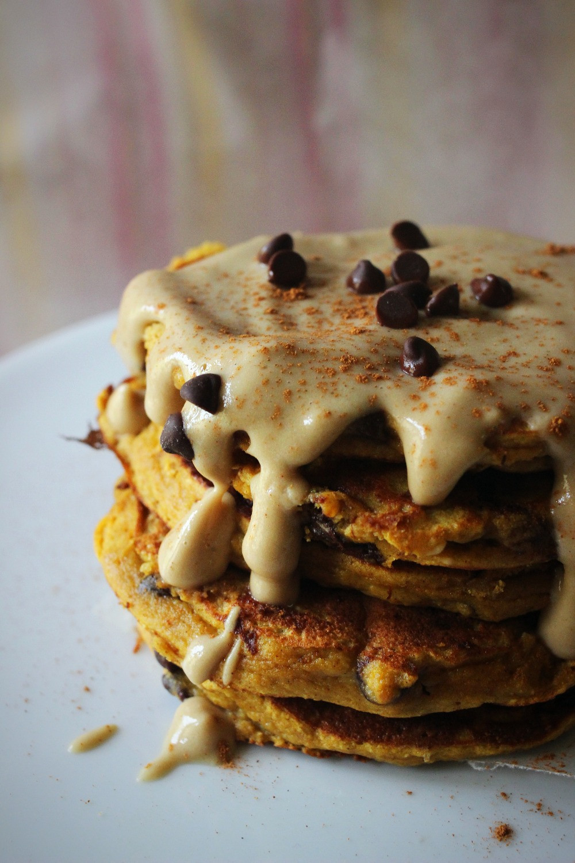 super yummy pumpkin chocolate chip pancakes