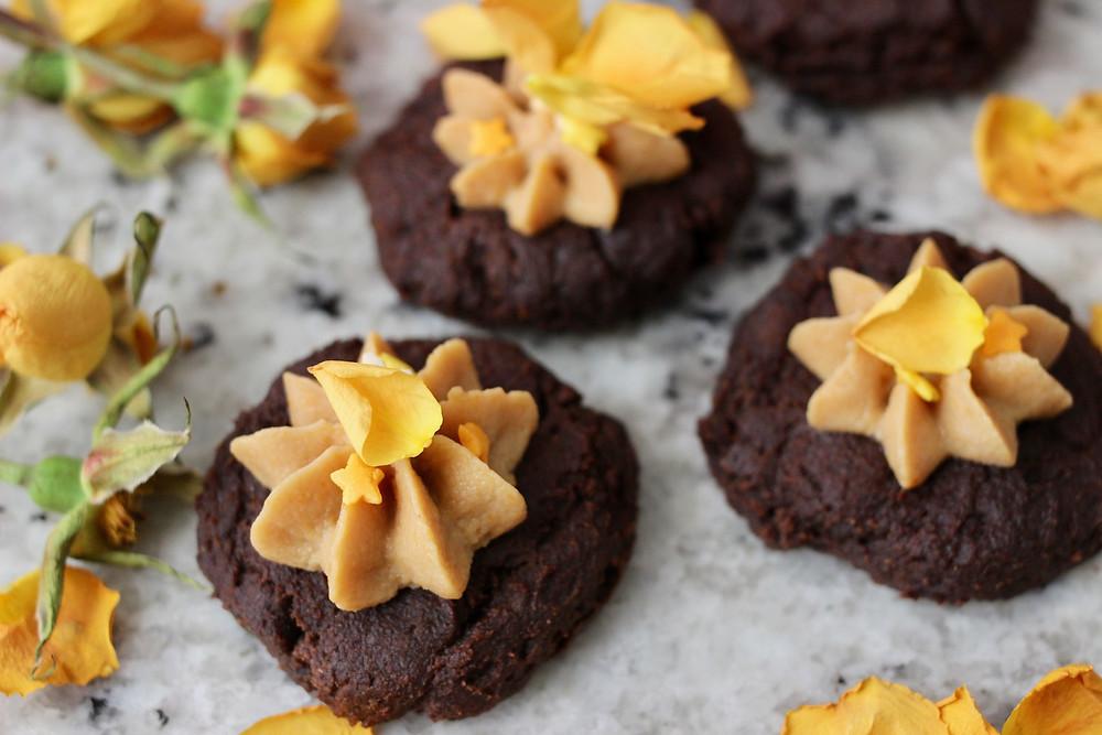 pumpkin fitness treat fudge cookies