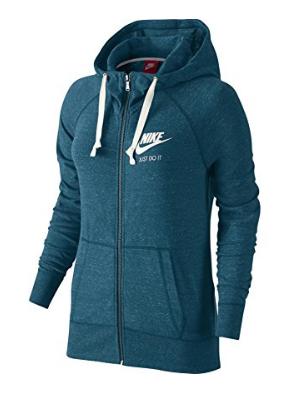 Teal Green Nike Zip Up Hoodie