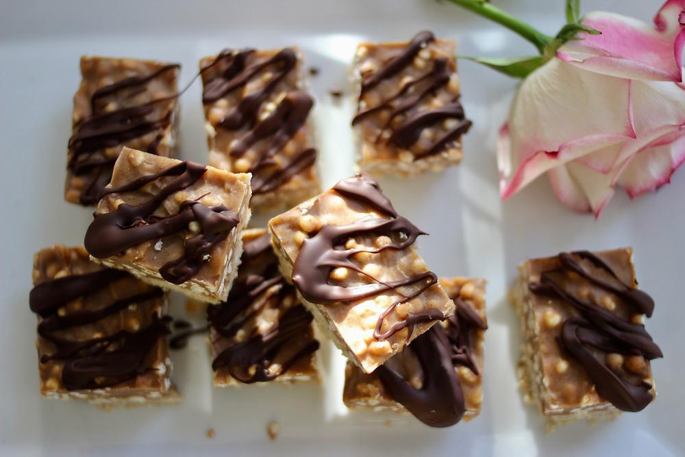 plant-based vegan almond butter bars