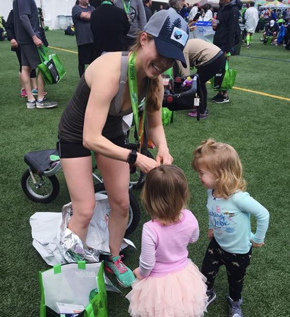 post-run at the Eugene Marathon 2018