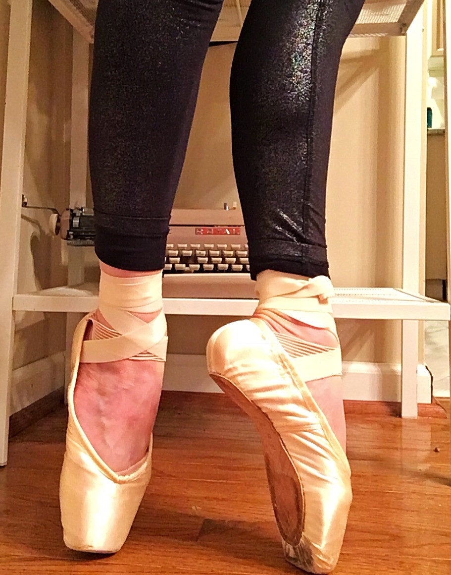 ballet workout pointe shoes