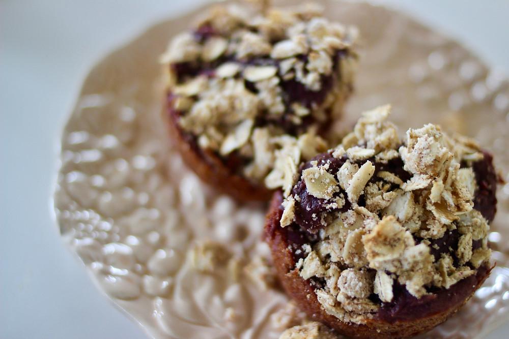 purple yam muffins