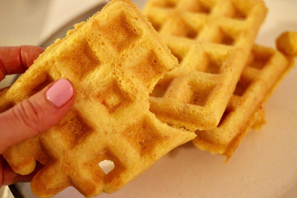 grain-free aip turmeric waffles
