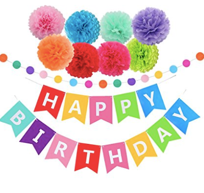 best easy rainbow birthday part decorations