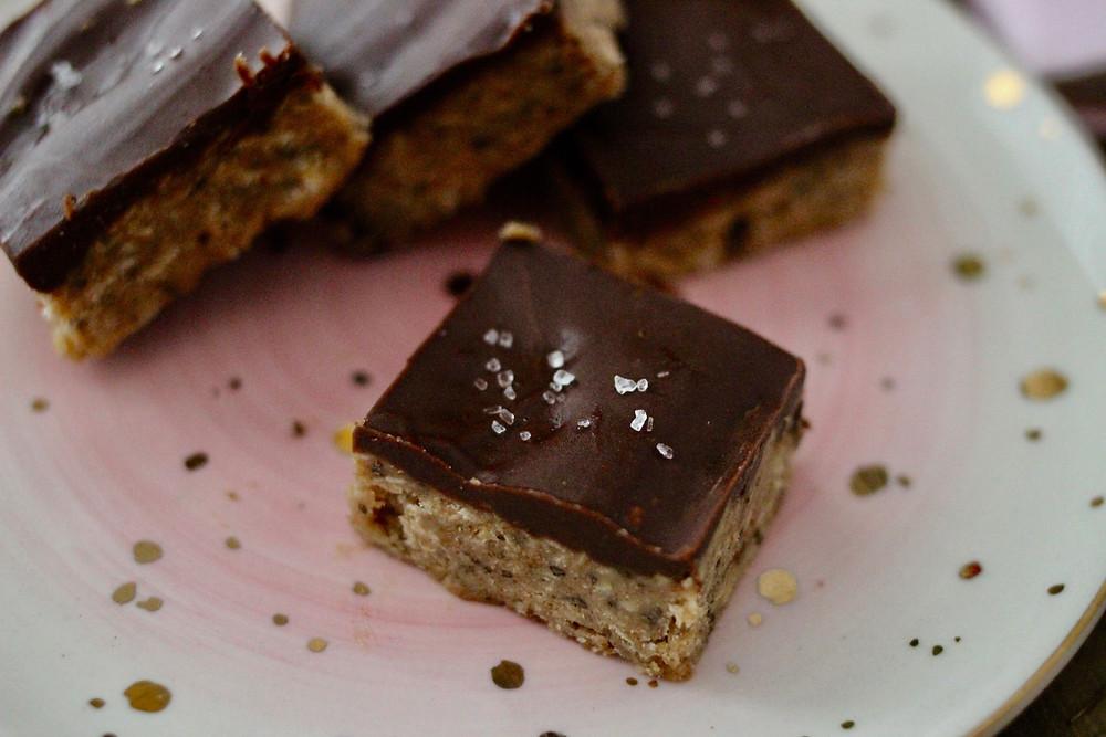 vegan gluten-free chocolate almond butter bars