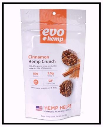 Evo Hemp Cinnamon Hemp Crunch Healthy Snack