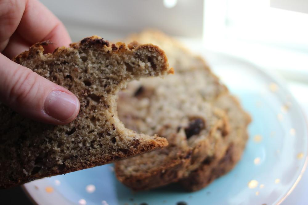 gluten-free fluffy sugar-free banana bread