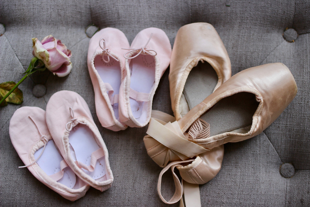 baby ballet shoes and mom ballet shoes