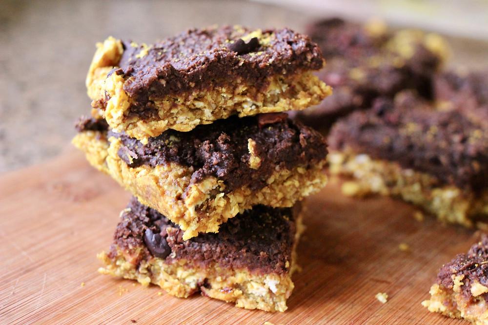 Vegan Brookie Cookie Brownie Bars
