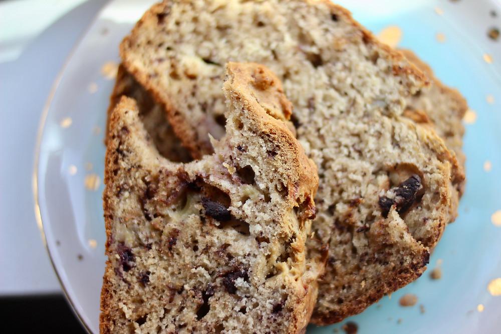 healthy allergen-free banana bread