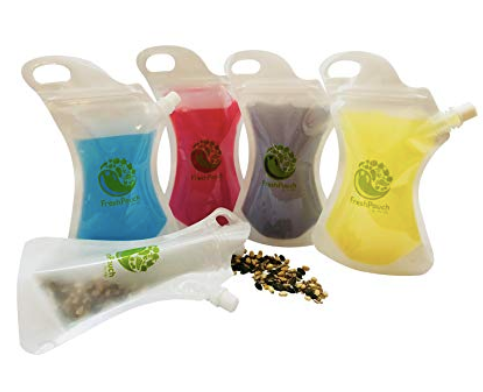 collapsible food and beverage wine pouch