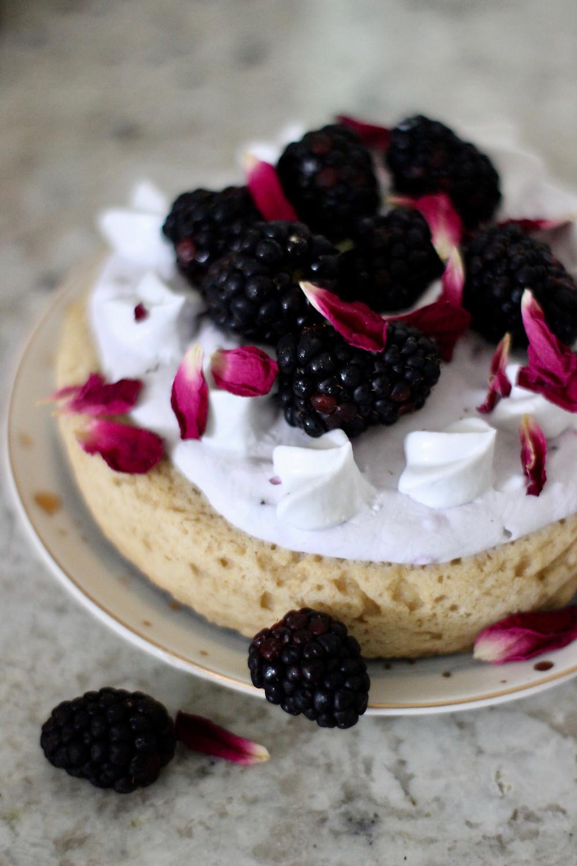 healthy summer blackberry dessert