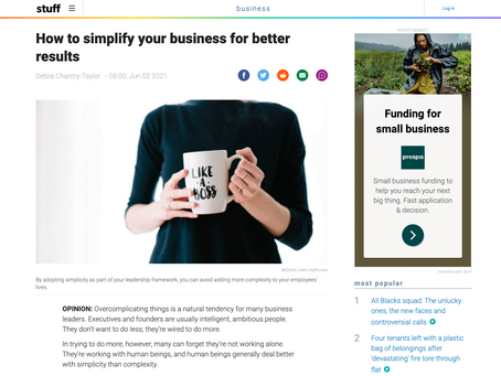 How to simplify your business for better results