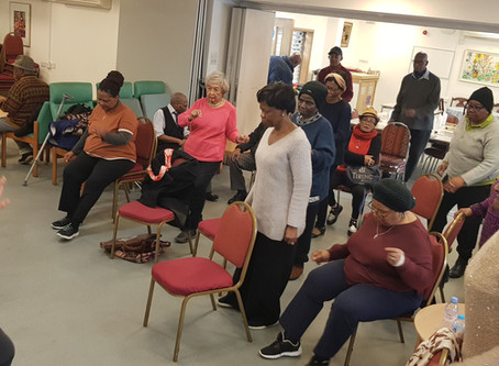 Chair exercise class